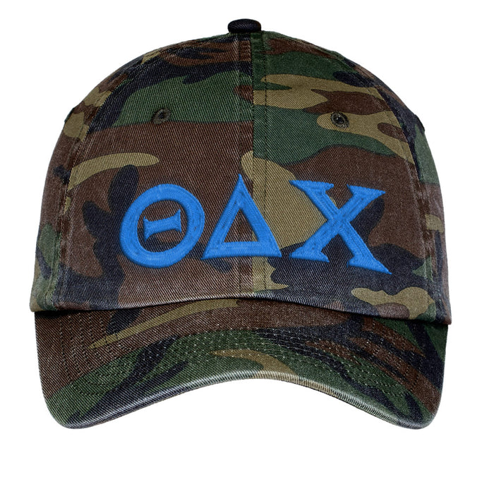 Theta Delta Chi Letters Embroidered Camouflage Hat