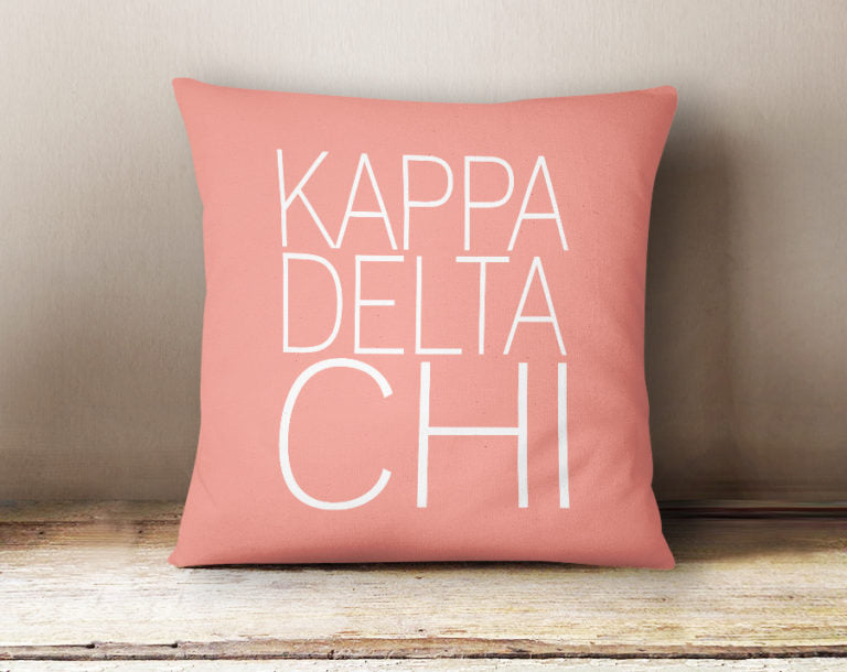 Kappa Delta Chi Simple Text Throw Pillow