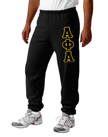 Alpha Phi Alpha Sweatpants with Sewn-On Letters