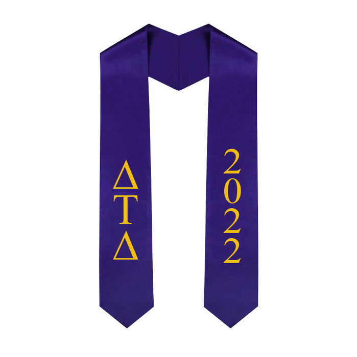 Delta Tau Delta Vertical Grad Stole with Letters & Year