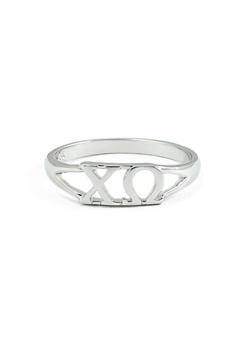 Chi Omega Sterling Silver Ring