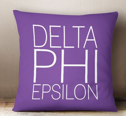 Delta Phi Epsilon Simple Text Throw Pillow
