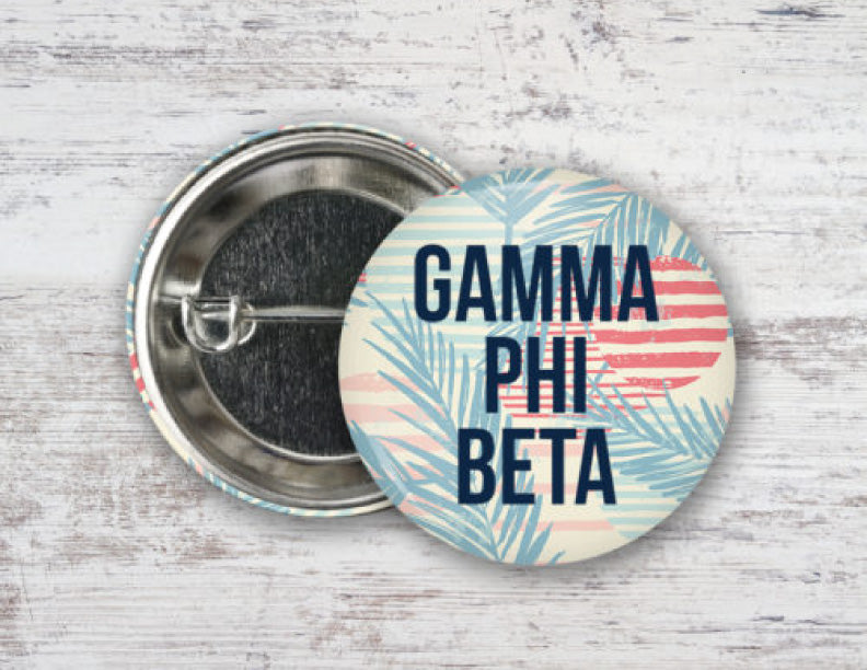 Gamma Phi Beta Paradise Found Button