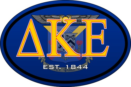 Delta Kappa Epsilon Color Oval Decal