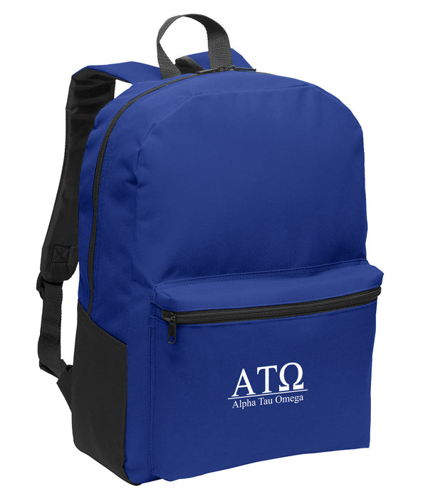 Alpha Tau Omega Collegiate Embroidered Backpack