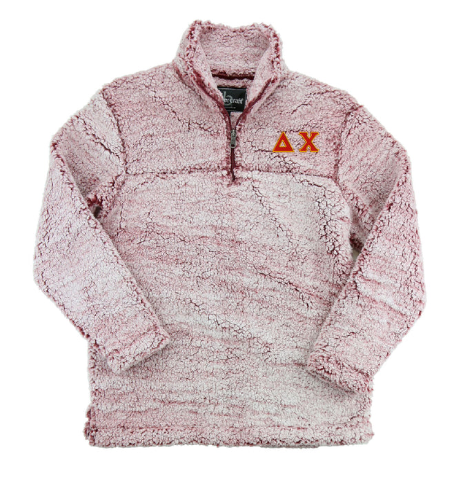 Delta Chi Embroidered Sherpa Quarter Zip Pullover
