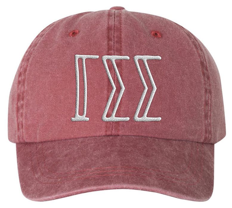 Gamma Sigma Sigma Sorority Greek Carson Embroidered Hat