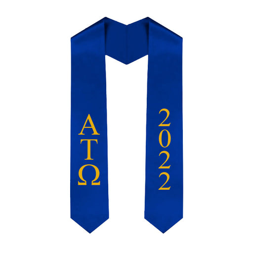 Alpha Tau Omega Vertical Grad Stole with Letters & Year