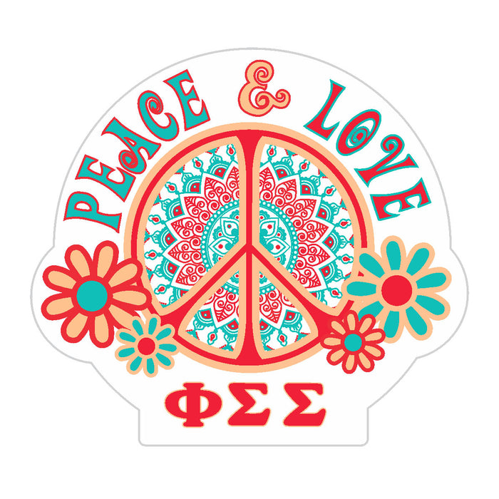 Phi Sigma Sigma Peace Sticker