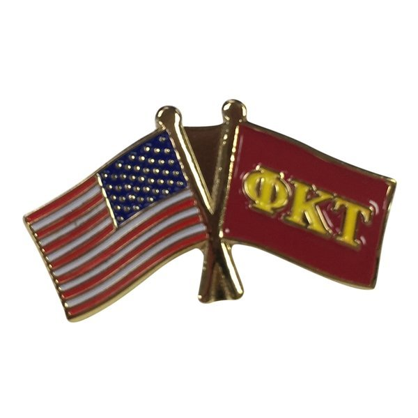 Phi Kappa Tau USA / Fraternity Flag Pin