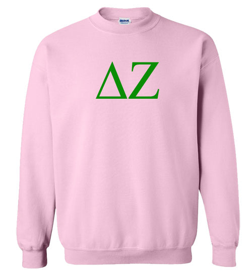 Delta Zeta World Famous Lettered Crewneck Sweatshirt