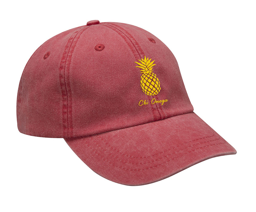 Chi Omega Pineapple Embroidered Hat