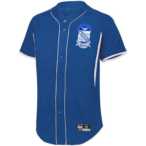 Phi Beta Sigma 7 Full Button Baseball Jersey