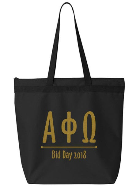 Alpha Phi Omega Oz Letters Event Tote Bag