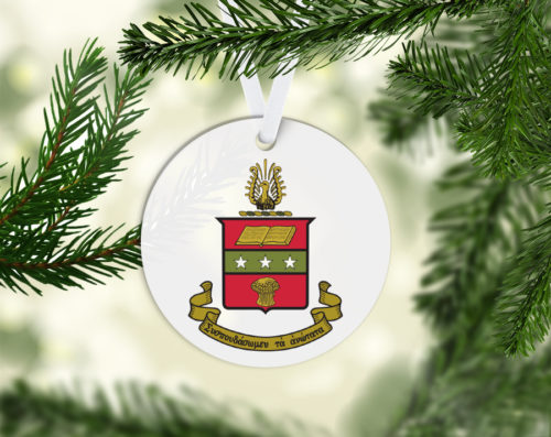 Round Acrylic Crest Ornament