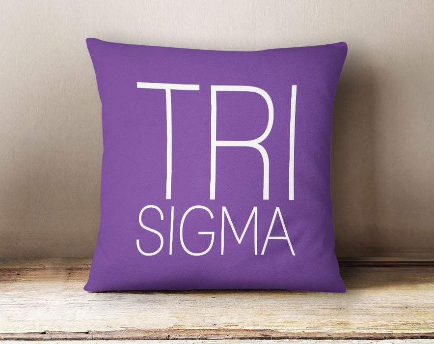 Sigma Sigma Sigma Simple Text Throw Pillow