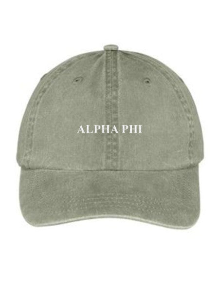 Alpha Phi Embroidered Hat