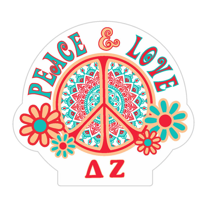 Delta Zeta Peace Sticker