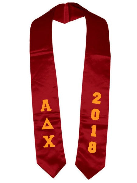 Alpha Delta Chi Vertical Grad Stole with Letters & Year