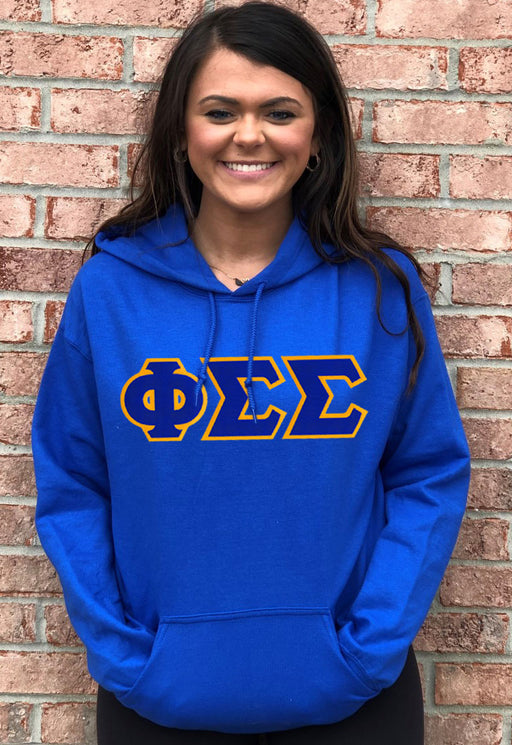 Phi Sigma Sigma Lettered Hoodie