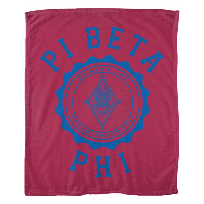 Pi Beta Phi Seal Fleece Blankets Pi Beta Phi Seal Fleece Blankets