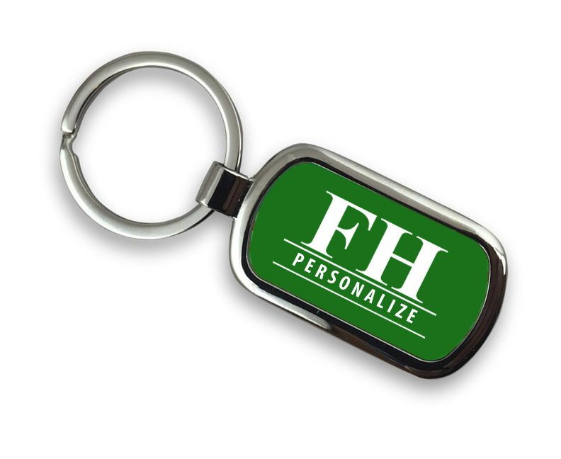 Farmhouse Chrome Key Chain