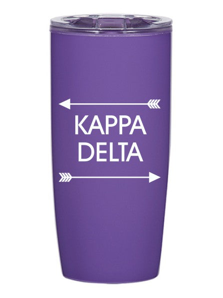 Kappa Delta Arrows Top Bottom 19 oz Everest Tumbler