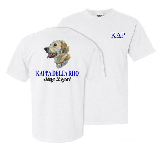 Kappa Delta Rho Dog Head Comfort Colors Heavy Tee