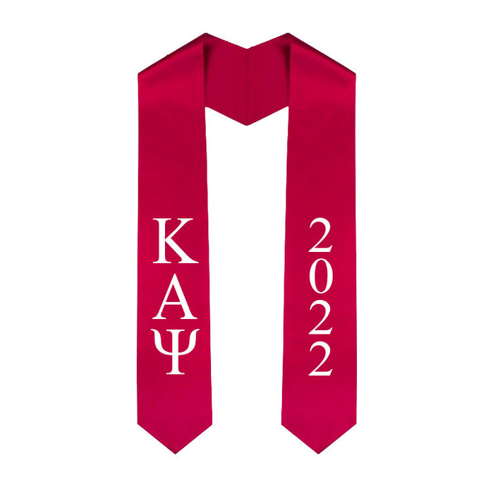 Kappa Alpha Psi Vertical Grad Stole with Letters & Year