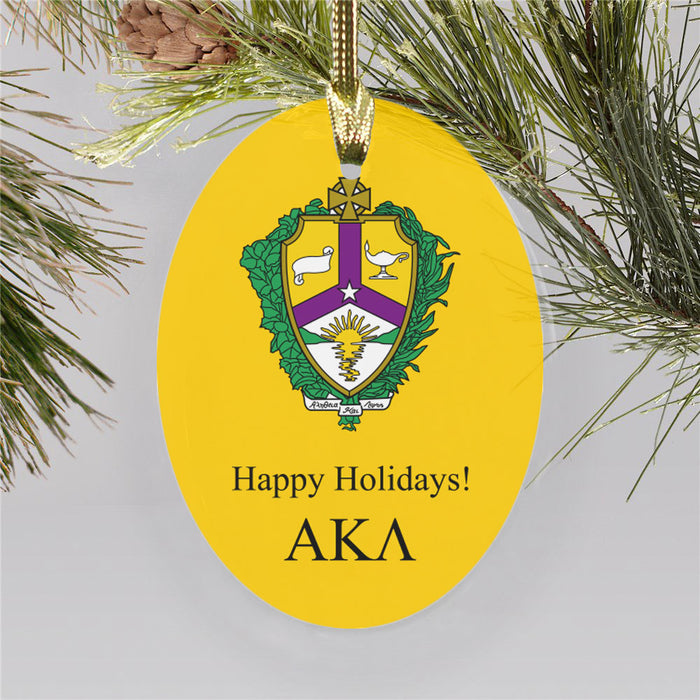 Alpha Kappa Lambda Color Crest Ornament