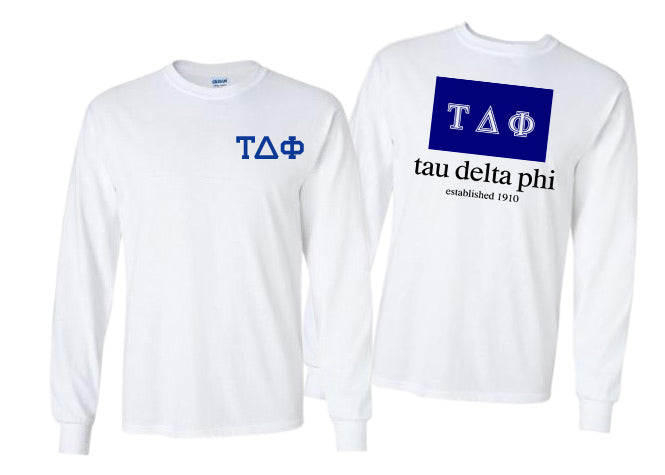 Tau Delta Phi Long Sleeve Flag Tee