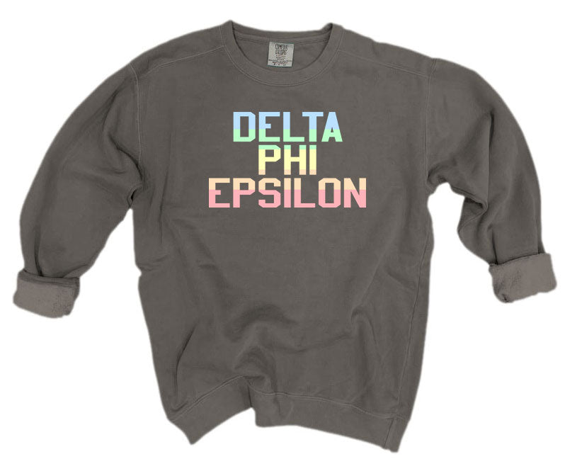 Delta Phi Epsilon Comfort Colors Pastel Sorority Sweatshirt
