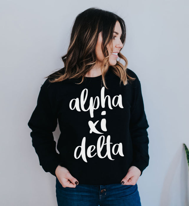 Alpha Xi Delta Superscript Crewneck Sweatshirt