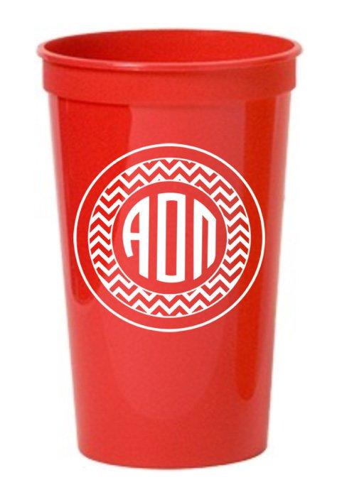 Alpha Omicron Pi Monogram Giant Plastic Cup