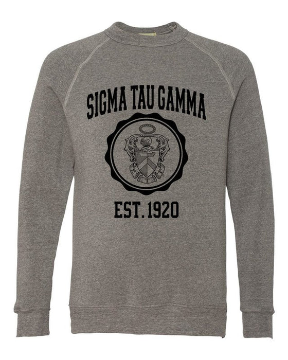 Sigma Tau Gamma Alternative Eco Fleece Champ Crewneck Sweatshirt