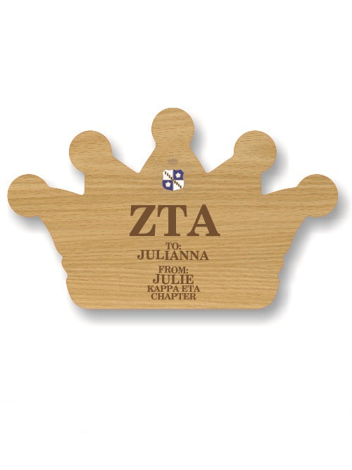 Zeta Tau Alpha Sorority Plaque