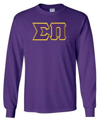 Sigma Pi Long Sleeve Greek Lettered Tee