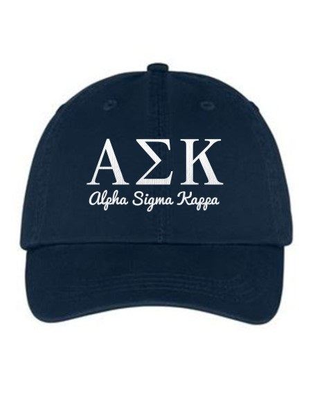 Alpha Sigma Kappa Collegiate Curves Hat