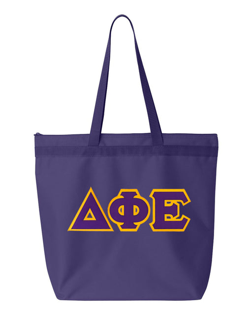 Delta Phi Epsilon Greek Lettered Game Day Tote