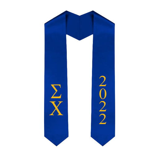 Sigma Chi Vertical Grad Stole with Letters & Year