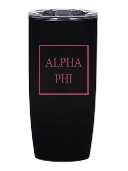 Alpha Phi Box Stacked 19 oz Everest Tumbler