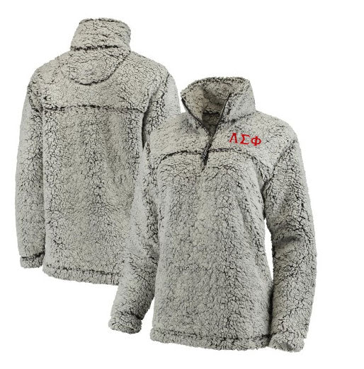 Alpha Sigma Phi Embroidered Sherpa Quarter Zip Pullover