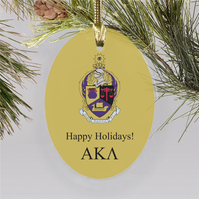 Alpha Kappa Psi Color Crest Ornament