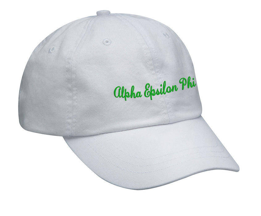 Alpha Epsilon Phi Cursive Embroidered Hat