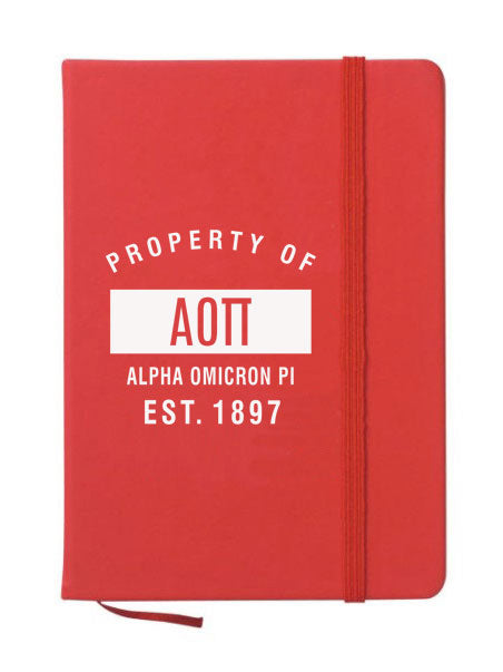 Alpha Omicron Pi Property of Notebook