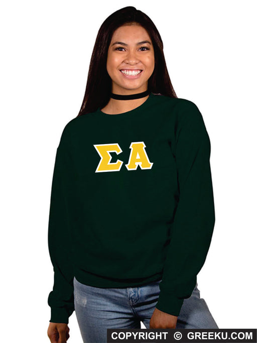 Sigma Alpha Classic Colors Sewn-On Letter Crewneck