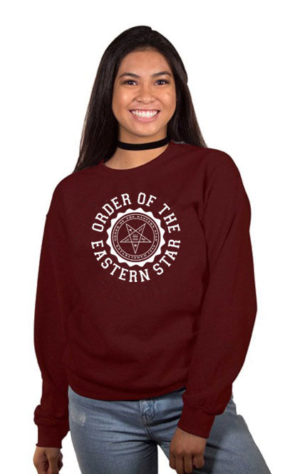Order Of The Eastern Star Crest Crew Neck Sweatshirt