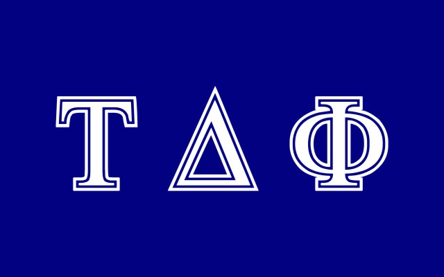 Tau Delta Phi Fraternity Flag Sticker