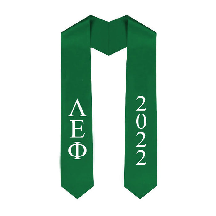 Alpha Epsilon Phi Vertical Grad Stole with Letters & Year