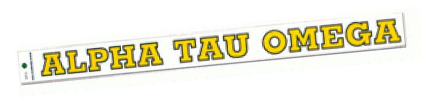 Alpha Tau Omega Back Of The Window Long Sticker